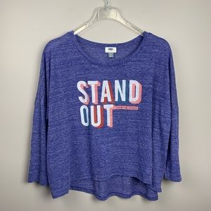 Old Navy Stand Out from the Crowd Oversized Tee XL